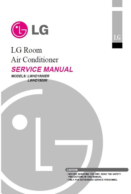 Product picture LG LWHD-1800R air conditioner Service Manual