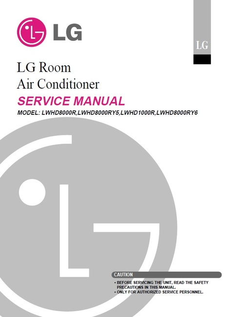 Product picture LG LWHD-8000R air conditioner Service Manual