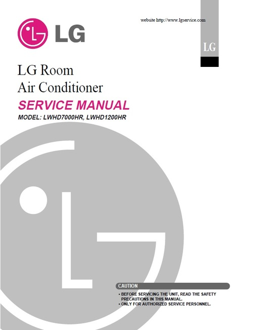 Product picture LG LWHD-1200HR air conditioner Service Manual