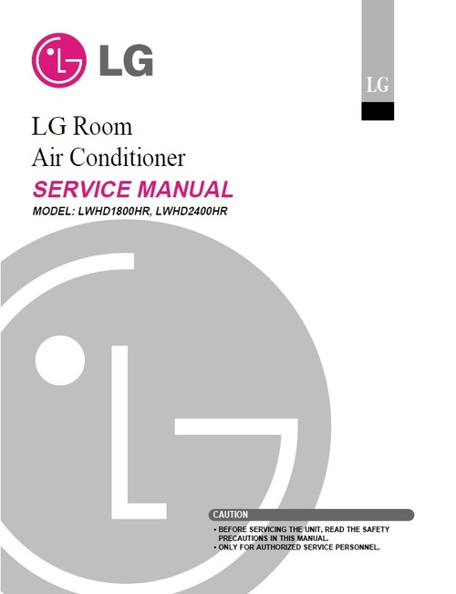 Product picture LG LWHD-2400HR air conditioner Service Manual